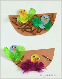 Spring Crafts for Kids: nest and baby bird crafts - preschool crafts Kids Crafts, Preschool Projects, Spring Crafts For Kids, Spring Projects, Daycare Crafts, Classroom Crafts, Easter Crafts, Holiday Crafts, Art For Kids