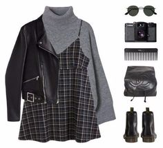 Best Ways To Style Your Outfits - Fashion Trends Grunge Outfits, Edgy Outfits, Retro Outfits, Fall Outfits, Kpop Outfits, Cute Outfits, Fashion Outfits, Outfit Winter, Aesthetic Fashion