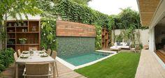 Diseño de patios pequeños con piscina