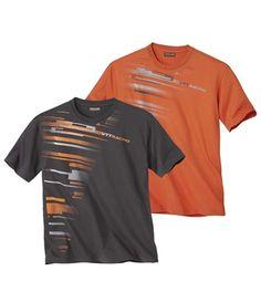 Lot de 2 Tee-Shirts VTT Racing #atlasformen #discount #collection #shopping #avis #nouvellecollection #newco #collection #quebec #québec