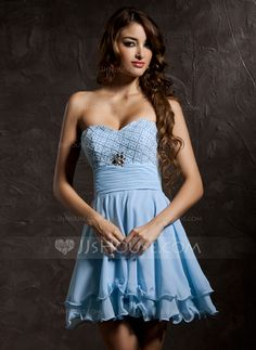 Homecoming Dresses - $128.99 - A-Line/Princess Sweetheart Short/Mini Chiffon Homecoming Dress With Ruffle Beading (022010872) http://jjshouse.com/A-Line-Princess-Sweetheart-Short-Mini-Chiffon-Homecoming-Dress-With-Ruffle-Beading-022010872-g10872