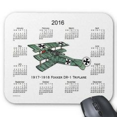 2016 Airplane Calendar Mouse Pad Design from Calendars by Janz