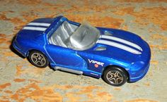 Vintage Toy, Car, Dodge, Viper,  RT 10, Blue, Sports Car, Convertible, Matchbox by TheBackShak on Etsy