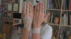 Bridal white henna