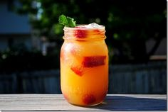Shaken Nectarine Vodka Chiller