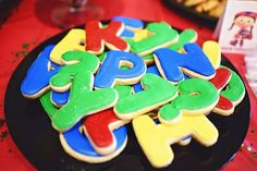 Super Why Birthday cookies by Shandi Cakes