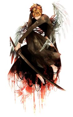 Wow, Ichigo looks pretty amazing like this. Almost like a tortured hero, which is basically what he is ;D