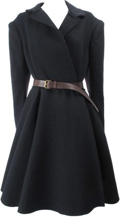 LANVIN Coat A really well fitted warm coat is an essential for all women. And this swoop bottom is flattering on all body types.