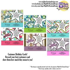 Thirty One Gifts Consultant postcard - BIRTHDAY CARDS for customers - DIY, digital file