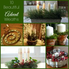 10 Beautiful Advent Wreaths from Around the Web! #advent