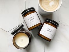 Candle Picture, Photo Candles, Candle Shop, Candle Jars, Packaging Inspiration, Coffee Candle, Candle Packaging, Soy Wax Candles, Natural Candles