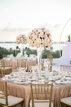 Gorgeous gilded ceremony: http://www.stylemepretty.com/destination-weddings/2015/02/23/glamorous-cancun-wedding/ | Photography: Ashley McCormick - http://www.ashleymccormick.com/