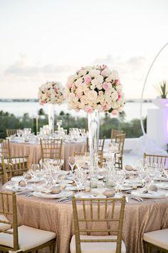 Gorgeous gilded ceremony: http://www.stylemepretty.com/destination-weddings/2015/02/23/glamorous-cancun-wedding/ | Photography: Ashley McCormick - http://www.ashleymccormick.com/