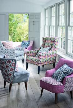 Home - Celina Dias Wingback Chair, Armchair, Gp&j Baker, Happy Room, Sweet Home, Coffe Table, Geometric Designs, Color Pop, Blinds