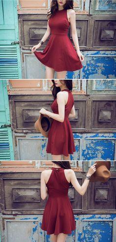 Halter Neck Circle Dress