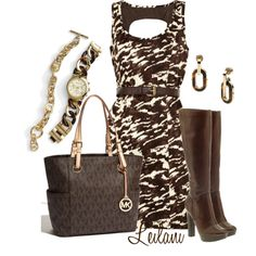 Michael Kors in Brown by leilani-almazan on Polyvore