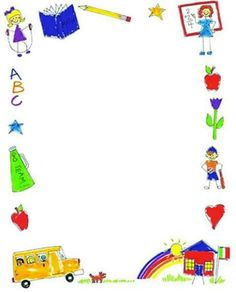 , Borders Frames Marco, School Border, Border Clipart, Page Border . Page Boarders, Boarders And Frames, Back To School Clipart, School Border, Printable Border, Border Templates, School Frame, School Images, Clip Art