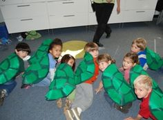 turtle backs craft. just add straps for their shoulders. how fun!