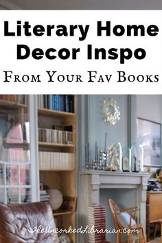 Do you have extra time to decorate your home? Find popular home decor trends inspired by famous authors. You'll love this bookish home decor. Tiny House Living, Small Living, Home Library Design, Library Inspiration, Indie Books, Rustic Farmhouse Decor, Home Decor Trends, Inspired Homes, Decorating Your Home