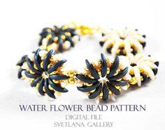 Beaded Bracelet Pattern for Crescent Beads by SvetlanaGalleryBeads