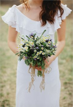 Memory Making Bouquet Recipe filled with aromatic herbs sure to kick-start your memory maker. Bouquet by Cedarwood Weddings photography by Kristyn Hogan. Herb Bouquet, Bouquet Garni, Diy Bouquet, Bride Bouquets, Farm Wedding, Rustic Wedding, Floral Wedding, Wedding Flowers, 2016 Wedding Trends