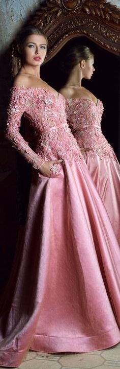 Rosamaria G Frangini Moda Fashion, Pink Fashion, Dress Fashion, Beautiful Gowns, Beautiful Outfits, Pink Dress, Dress Up, Mode Rose, Evening Dresses