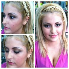 Makeup and braid by Yessica
