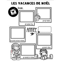 Le retour des fêtes Teaching Themes, Teaching Writing, Teaching Tools, Holidays With Kids, School Holidays, Holidays And Events, French Teacher, Teaching French, Kindergarten Activities