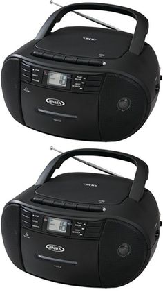 Portable Stereos Boomboxes: Jensen Cd 545 Portable Stereo Cd Player With  Cassette And Am