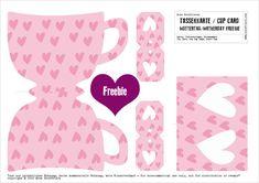 FREE printable tea cup tea bag wrap