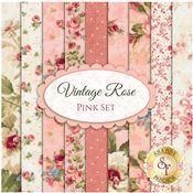 Vintage Rose  9 FQ Set - Pink Set by Deborah Edwards for Northcott Fabrics