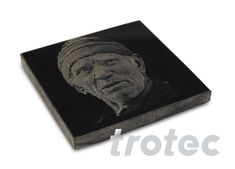 Trotec laser engravers and laser cutters Trotec Laser, Laser Machine, Stone Tiles, Laser Engraving, Decorative Items, Natural Stones, Diy Gifts, Ceramics, Portrait