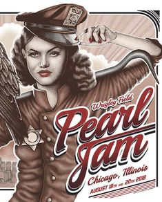 Tour Posters, Band Posters, Music Posters, Concert Tickets, Concert Posters, Pearl Jam Posters, Rock Album Covers, Eddie Vedder, Lollapalooza