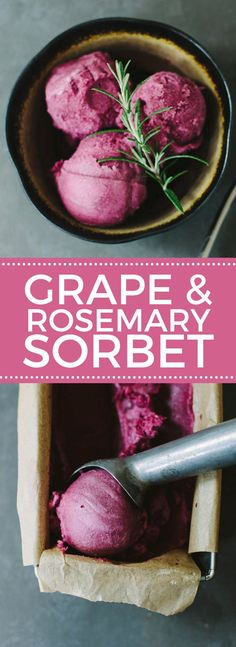 Purple Grape & Rosemary Sorbet