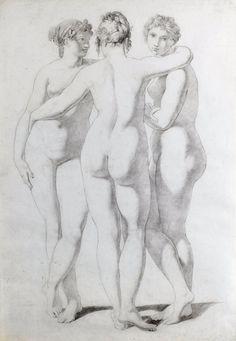 "labellefilleart:  "" The Three Graces, Jean-Baptiste Regnault """