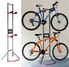 GearUp Free Standing Bicycle Storage Rack – Bike Storage – The Garage Store – Storage Ideas Garage Bike, Diy Garage, Bicycle Storage Rack, Storage Racks, Wall Racks, Freestanding Bike Rack, Garage Storage Solutions, Storage Ideas, Storage Systems