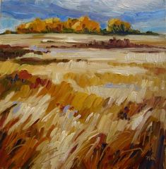 """Distant Wind Break"" - Original Fine Art for Sale - © Nicki Ault"