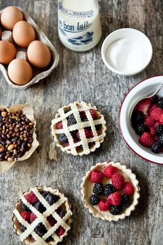 fresh berries tartelette