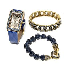 "Heidi Daus ""Three Times the Charm"" 3pc Watch Set"