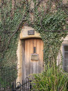 Tiny cottage door