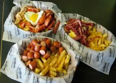 Salchipapas - sausage and fries.