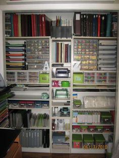 """Craft Closet Organization Don""""t think I would ever get there but I can dream........."""