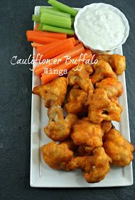 Authentic Suburban Gourmet: Friday Night Bites | Cauliflower Buffalo Wings