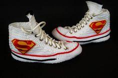 e6ec6717db7a Knitting Crochet Converse Chuck Taylor All Star Hi Superman Converse  Ayakkabılar