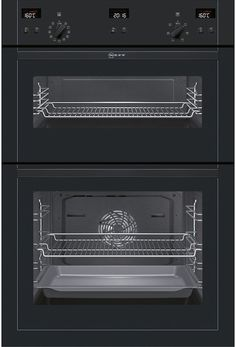 NEFF U15E52S5GB Built In Electric Double Oven - The Neff U15E52S5GB is finished in an appealing, black finish that will bring an elegance to your kitchen. You have two ovens both with enamel interiors and Cerami Clean liners that will make constant http://www.MightGet.com/february-2017-2/neff-u15e52s5gb-built-in-electric-double-oven-.asp