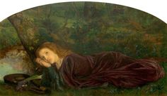 Arthur Hughes The Rift within the Lute, 1861-1862