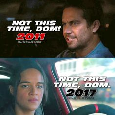 Brian et Letty Paul Walker Tribute, Rip Paul Walker, Furious Movie, The Furious, Michelle Rodriguez, Gal Gadot, Movie Memes, Movie Tv, Fast And Furious Memes