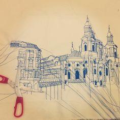 Embroidered Architecture - Harriet Popham Textiles