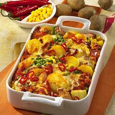 Feuriger Kartoffel-Auflauf mit Fleischwurst Rezept   LECKER