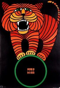 Tiger on Ball, Polish Circus Poster | review | Kaboodle